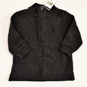 Ralph Lauren Toddler boy gray pullover, 18 months